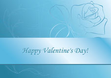 eps - light blue card - for valentine's day Royalty Free Stock Photos