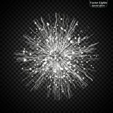 Luminous tapes. Light effect. Eps10. Luminous tapes Light effect royalty free illustration