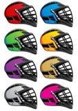 eps hełmów ikon lacrosse Obrazy Royalty Free