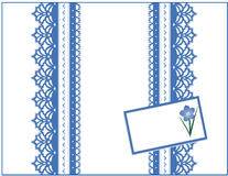 +EPS m'oublient pas cadre de cadeau, lacet bleu, carte de cadeau Image stock