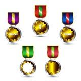 eps medale ustawiający wektor Zdjęcie Royalty Free