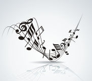 Eps10  music note background design Royalty Free Stock Image