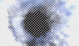 Eps 10 Névoa ou efeito especial transparente isolado fumo Fundo branco da opacidade, da névoa ou da poluição atmosférica Ilustraç Imagens de Stock