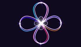 EPS10 Neonowi rozmyci okręgi przy ruchem Wektorowy zawijasa śladu skutek Abstrakcjonistyczni świecący pierścionki zwalniają żaluz Zdjęcie Stock