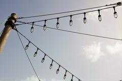 8 eps odosobnionych lamp uliczny biel zdjęcie stock