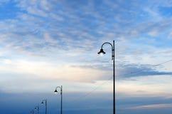 8 eps odosobnionych lamp uliczny biel Zdjęcia Stock