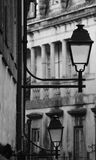 8 eps odosobnionych lamp uliczny biel Zdjęcia Royalty Free