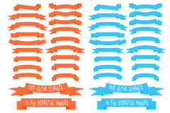 2 eps10 pack of vector banners. Vector Banner Collection on two colors Stock Images