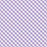 +EPS Pastellgingham-Kreuz-Webart-Lavendel, nahtlos Stockfotos