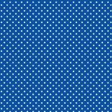 +EPS Polkadots, Blauwe Achtergrond Royalty-vrije Stock Afbeelding