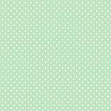 +EPS Polkadots, fundo verde enevoado Imagens de Stock