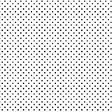 +EPS Polkadots, preto no fundo branco Foto de Stock