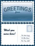 +EPS Postkarte, fügen Standort hinzu lizenzfreie abbildung