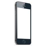 有黑屏的现实黑手机在白色背景 eps10开花橙色模式缝制的rac ric缝的镶边修整向量墙纸黄色 免版税库存照片