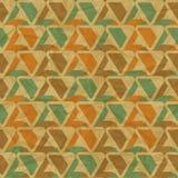 EPS10 retro seamless pattern on vintage old paper Stock Photo