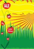eps rośliny plakata sprzedaż Zdjęcia Royalty Free