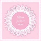 +EPS rosafarbene Ösen-rundes Feld, nahtloser Hintergrund Stockfotos