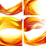 188 eps. Set fire flame waves abstract background royalty free illustration