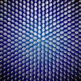EPS10 A simetria dos cristais em um fundo azul Ilustração do vetor O fundo Fotos de Stock Royalty Free