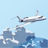EPS10 som flyger över molnen vektor illustrationer