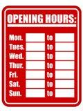 eps-timmar som öppnar tecknet