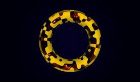 EPS10 Toróide que consiste em fragmentos com partículas moventes para dentro Fundo futurista Imagem de Stock