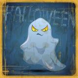 EPS10 uitstekende grunge oude kaart Halloween-Spook Stock Foto