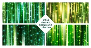 Eps10 vector abstract green background collection royalty free illustration