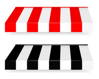 Colorful set of striped awnings Royalty Free Stock Image