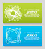 EPS 10 vector illustration. Abstract background with geometric design elements. Vector design style Business card. Letterhead, brochure, banner Stock Photography