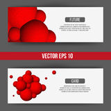 EPS 10 vector illustration. Abstract 3D background with geometric design elements. Vector design style Business card. Letterhead, brochure, banner Stock Illustration
