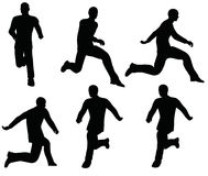EPS 10 vector illustration of boy silhouette in Leaping pose Royalty Free Stock Photos