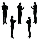 EPS 10 vector illustration of business man silhouette in blaming pose Royalty Free Stock Image