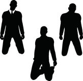 EPS 10 vector illustration of business man silhouette in sorrowful pose Royalty Free Stock Photography