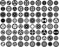 EPS 10 Vector Illustration Of Eighty Cog Wheels royalty free stock images