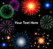 EPS10 vector illustration. Graphic fireworks in Royalty Free Stock Images