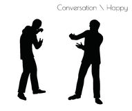 EPS 10 vector illustration of man in Conversation Angry pose on white background Royalty Free Stock Photo