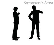 EPS 10 vector illustration of man in Conversation Angry pose on white background Stock Image