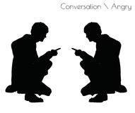 EPS 10 vector illustration of man in Conversation Angry pose on white background Royalty Free Stock Photos