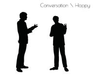 EPS 10 vector illustration of man in Conversation Happy Talk  pose on white background Royalty Free Stock Images