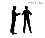 EPS 10 vector illustration of man in Conversation Intimate Talk  pose on white background Stock Images