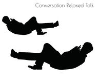 EPS 10 vector illustration of man in Conversation Relaxed Talk  pose on white background Royalty Free Stock Photography