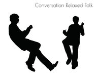 EPS 10 vector illustration of man in Conversation Relaxed Talk  pose on white background Royalty Free Stock Photos