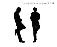 EPS 10 vector illustration of man in Conversation Relaxed Talk  pose on white background Stock Photos