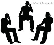 EPS 10 vector illustration of Man On couch pose on white background Royalty Free Stock Image