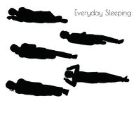EPS 10 vector illustration of man in Everyday Sleeping pose on white background. Illustration -  EPS 10 vector illustration of man in Everyday Sleeping pose on Royalty Free Stock Photo
