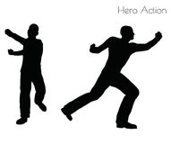 EPS 10 vector illustration of man in Hero Action pose on white background Royalty Free Stock Images