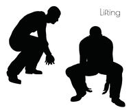 EPS 10 vector illustration of man in  Lifting  Action pose on white background Royalty Free Stock Photos