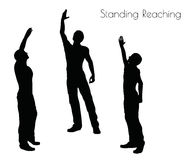 EPS 10 vector illustration of a man in Standing Reaching  pose on white background Stock Photography