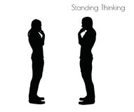 EPS 10 vector illustration of a man in Standing Thinking  pose on white background Royalty Free Stock Photos